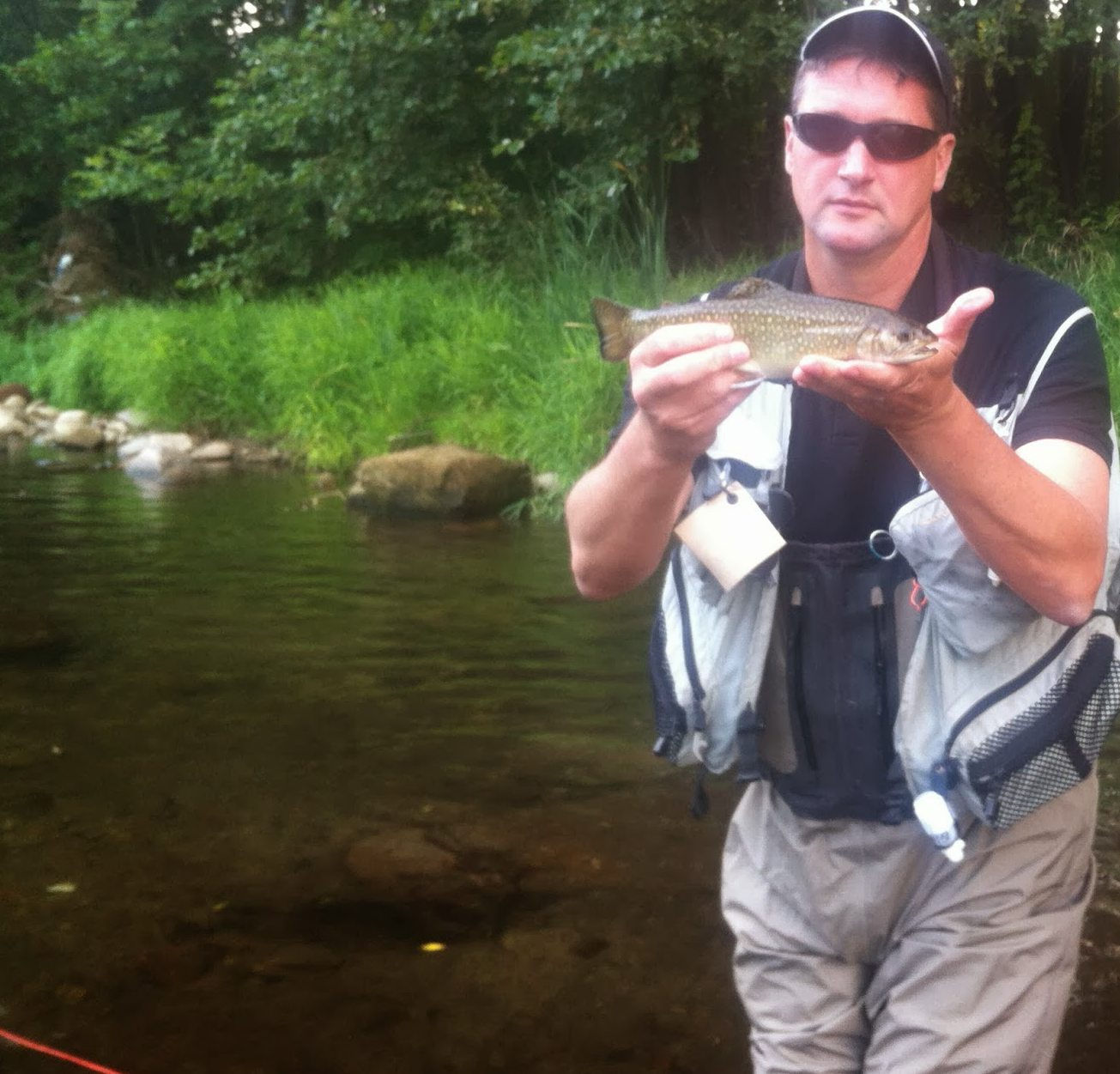 Eric met een Brook Trout in Tsjechie